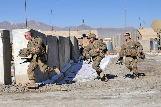 Spartans practice mortar crew drills in Afghanistan