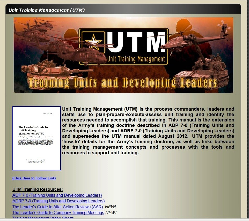 Army Training Strategy: Unit Training Management Handbook Gets Update