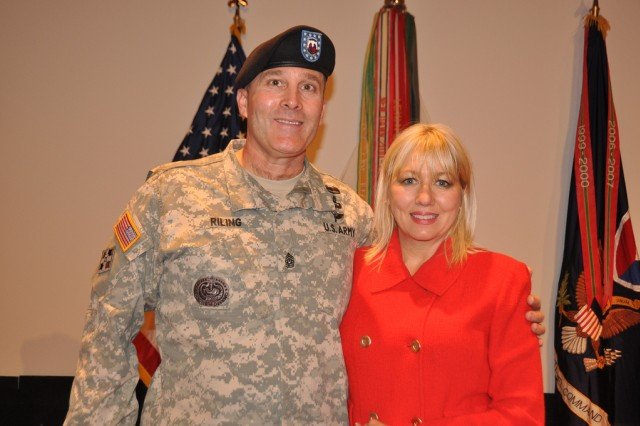 "Command Sgt. Maj. Ronald Riling and his wife, Melinda, are looking forward to settling down to a ""civilian life"" in North Alabama. Riling, whose most recent assignment has been with the Army Materiel Command, will be retiring Friday after 31 years of service."