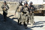 Afghan security forces discuss new checkpoint after clearing operation in Paktika