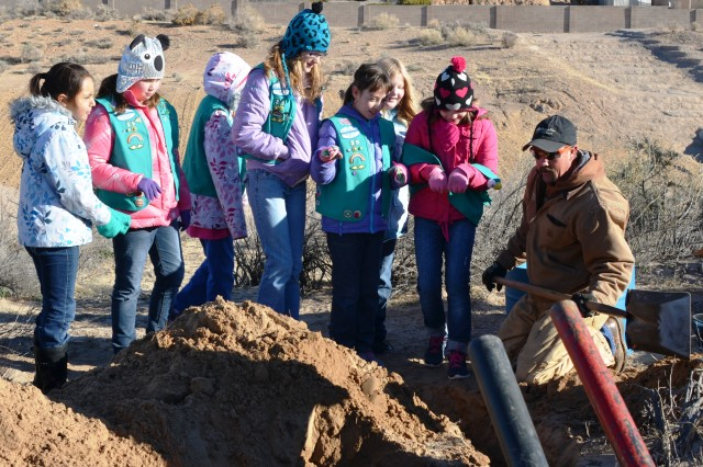 Girl Scouts help build owl habitat