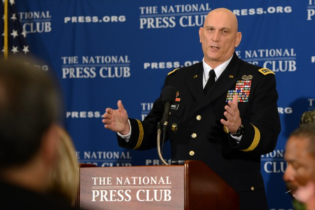 Chief of Staff of the Army Gen. Ray Odierno speaks during a question and answer session at the National Press Club in Washington, D.C., Jan. 7, 2013.