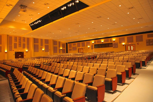 Camp Humphreys Middle/High School includes a state-of-the-art performing arts auditorium. In addition to the modern and well-appointed auditorium, the three-story school features a cutting-edge digital video production studio, performing arts auditorium, science labs, digital art and music rooms, rooftop garden for planned culinary arts courses, and an indoor regulation marksmanship range for the JROTC program.