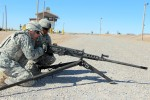 Soldiers Practice Free Gun on M205 Tripod