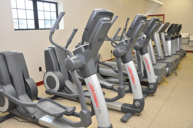 """The new Burt Exercise Facility, also known as """"Burt's Big Hurt,"""" opened to Natick personnel Jan. 10. The new facility has 4,800 square feet of exercise space and locker rooms. The interior has been totally renovated with new construction and improved natural and artificial lighting."""