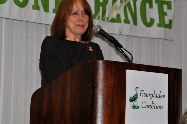 """Since I've been in my position, I'm honored to say that the Obama Administration has been committed to Everglades restoration,"" said Assistant Secretary of the Army for Civil Works Jo-Ellen Darcy at the Everglades Coalition Conference in Naples, Fla., Jan. 10, 2014."