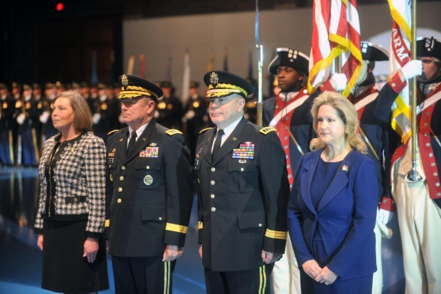 Pictured is the retirement ceremony of Lt. Gen. William E. Ingram Jr., 19th director of the Army National Guard of the United States,  Joint Base Myer-Henderson Hall, Va., Jan. 14, 2014.