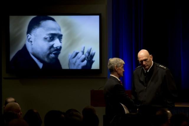 Col. Greg D. Gadson gives keynote address at DOD's Dr. Martin Luther King, Jr. Observance