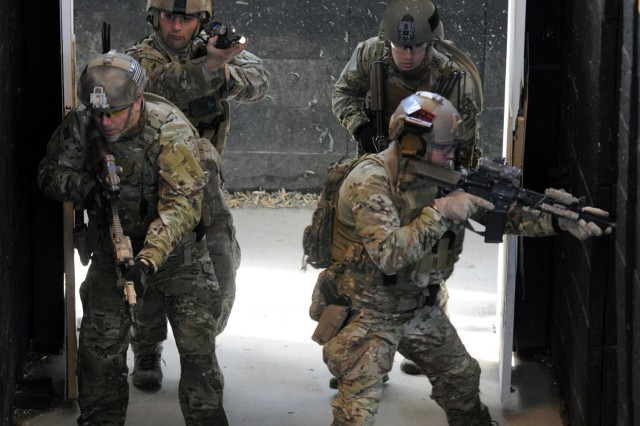 Special Forces Soldiers train support troops at Fort A.P. Hill