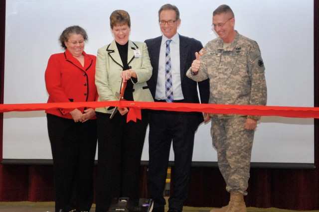Ribbon Cutting at Lewis Elementary on Fort Irwin