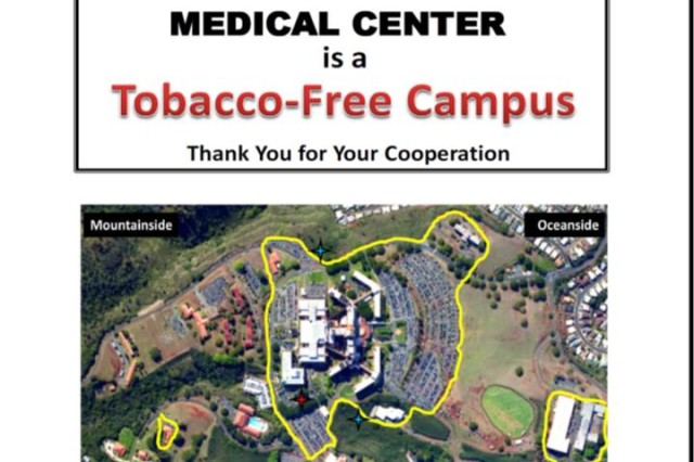 Tripler is a Tobacco Free Campus