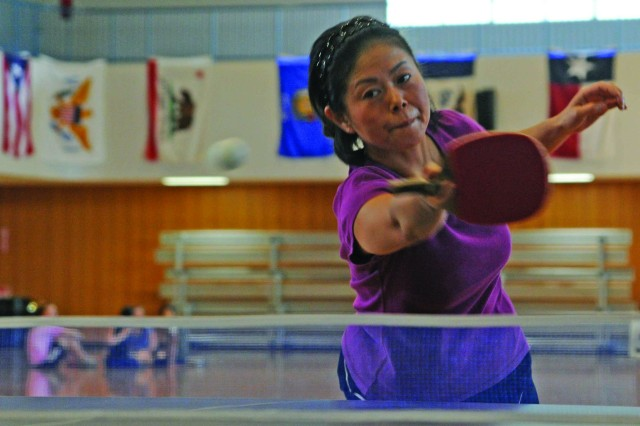 Table tennis is one of the 27 intramural events held on Camp Zama throughout the year that make up the Commander's Cup season.
