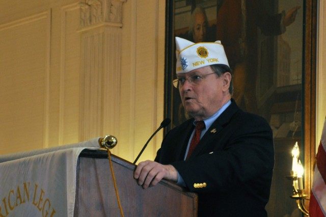 New York State American Legion Department Commander Kenneth F. Governor openning the general session.