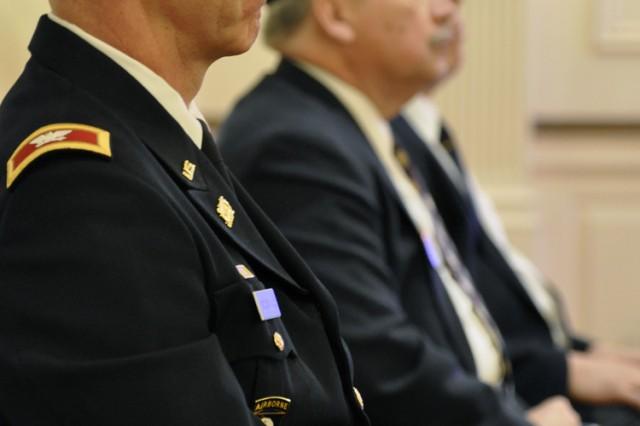 Arsenal Commander Col. Lee H. Schiller Jr. sitting among greatness.