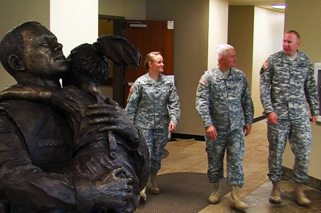 CH (Lt. Col.) Brian Crane (middle) serves alongside his daughter, CH (Capt.) Aimee Crane-Blake (left), and his son-in-law, CH (Capt.) Brian Blake (right), as U.S. Army chaplains at Fort Hood, Texas.