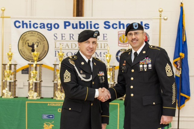 military members serve community  judge jrotc competition