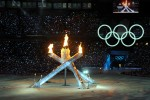 Olympic fire, ice and rings