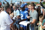 Head coach for the Indianapolis Colts Chuck Pagano autographs