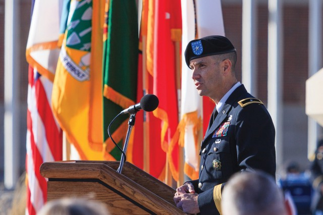 Armor School Commandant Leopoldo Quintas was promoted to brigadier general during a ceremony Friday. Quintas is the 48th Chief of Armor, and has served in that capacity here since September.