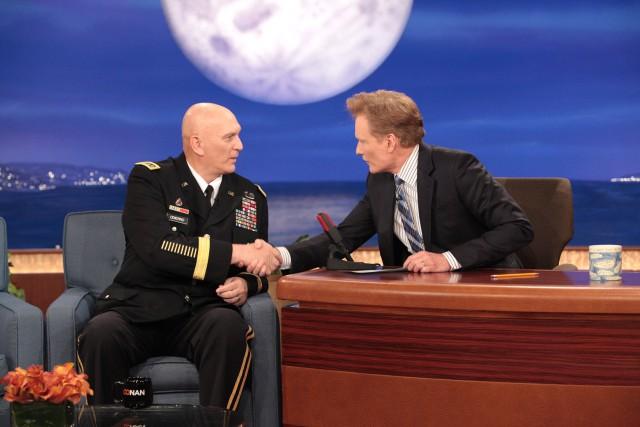 CSA visits Conan O'Brien; discusses Soldier 4 Life program