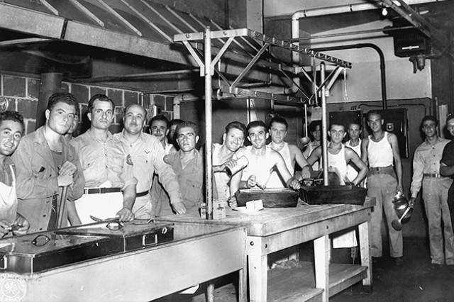 Fort Rucker was once home to 1,700-2,000 Italian and German prisoners of war from WWII. Here, Italian POWs work in their mess hall while detained at Camp Rucker.
