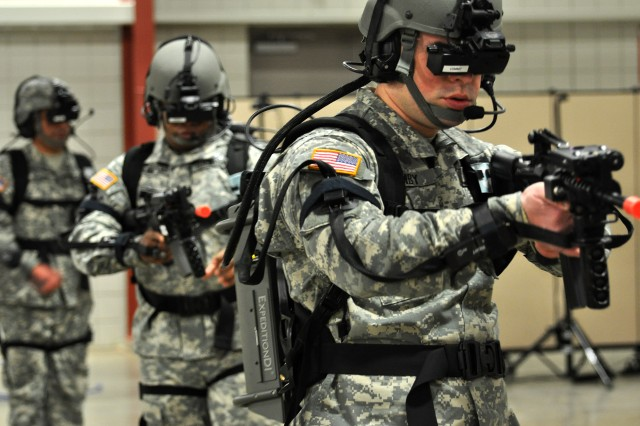 This virtual simulator will allow Cadets to practice patrolling as a squad in a town, enter and clear a building, and perform other simulated operations in mountain, desert and wooded terrain.