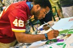 NFL Pro Bowl stars share time with wounded warriors, community -- Alfred Morris