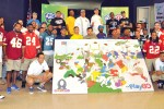 NFL Pro Bowl stars share time with wounded warriors, community -- Wounded Warrior mural