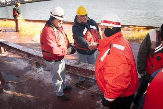 New York District showcases harbor improvements, develops safe & economically efficient pathway