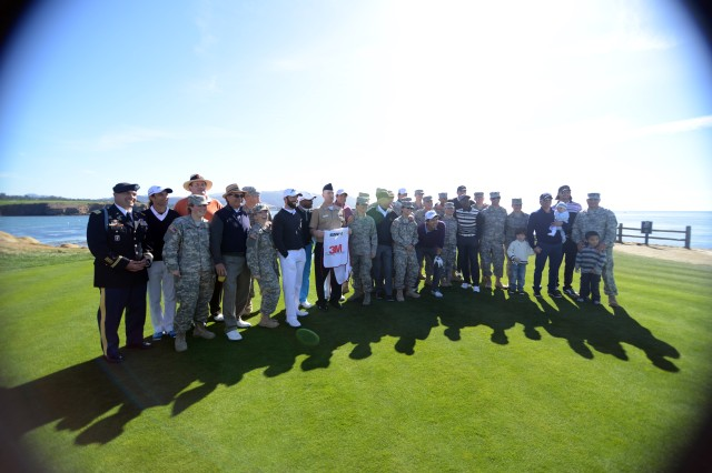 Pebble Beach, Calif. - Wednesday, Feb. 5, was Military Appreciation Day at the AT&T Pebble Beach National Pro-Am, one of the most popular stops on the national PGA tour. During the day, POM and DLI service members received free admission and special access to one of the week's highlights, the traditional 3M Celebrity Challenge. See more photos at http://tiny.cc/golf14.