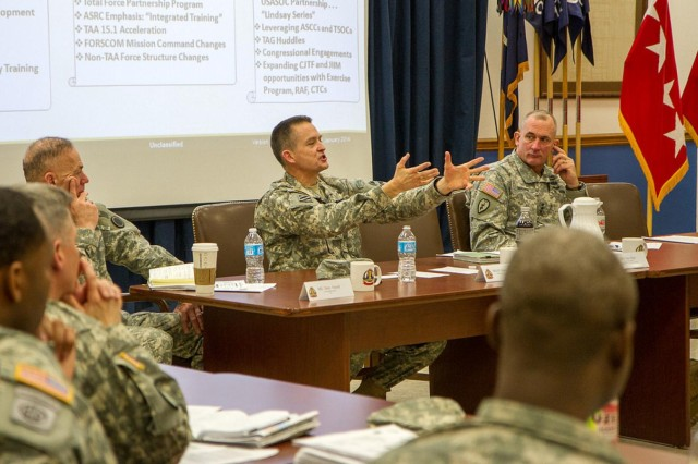 Gen. Daniel B. Allyn, commanding general of United States Forces Command, hosts a Leader Professional Development event for commanders and command sergeants major across Joint Base Lewis-McChord, Feb. 5.