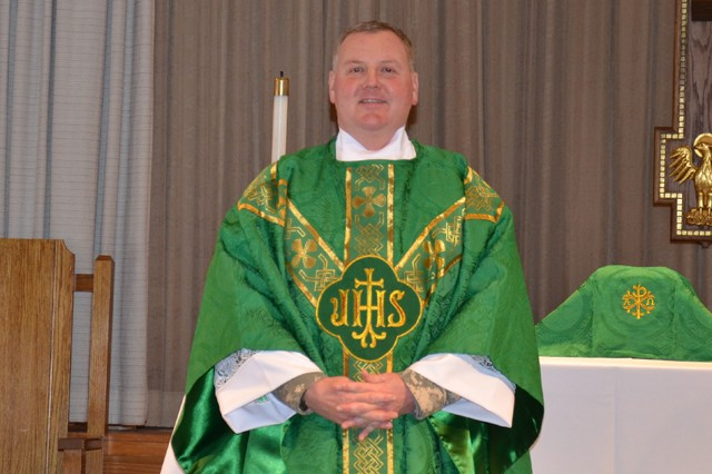 Maj. James B. Collins is the new Main Post Chapel Catholic chaplain for APG, performing Mass, Confession, and other duties at both APG North (Aberdeen) and APG South (Edgewood).