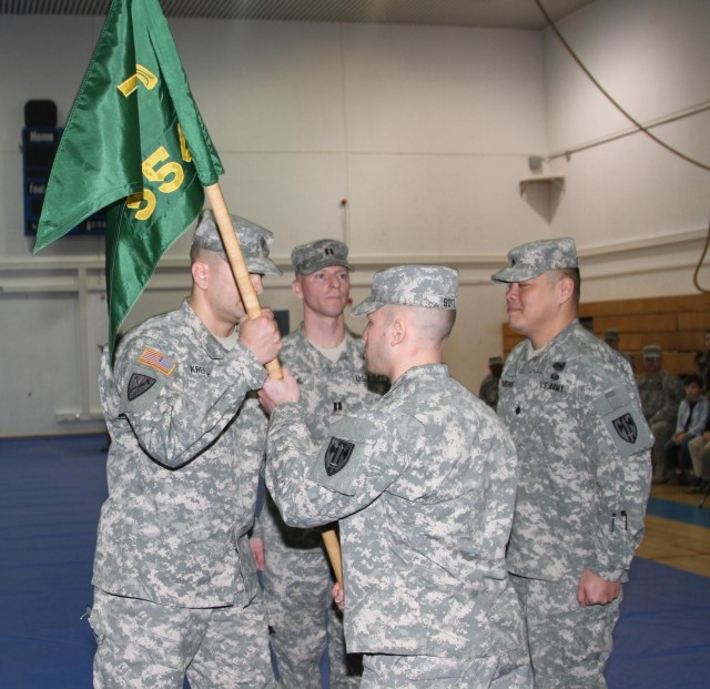 The 554th MP Company change of command