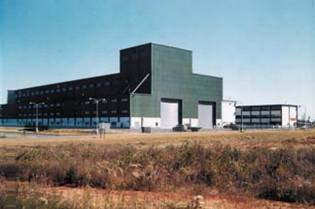 "Building 5400 at Redstone Arsenal, Alabama, was dedicated as the Francis J. McMorrow Missile Laboratories on March 12, 1964 in memory of the first commander of the Army Missile Command, Maj. Gen. Francis ""Frank"" McMorrow.  Today the building is headquarters to the Army Aviation and Missile Research Development and Engineering Center."