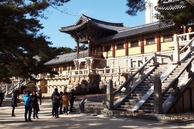 Bulguksa Temple is a masterpiece of religious architectural design, and is regarded as one of the top historic and scenic sites in South Korea. Located in North Gyeongsang Province, the temple is home to several of Korea's national treasures.