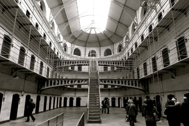 Dublin's historical Kilmainham Gaol, pictured here, is an old prison worth visiting during your stay in this historic European city.