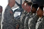 Odierno awards coins to 2nd Infantry Division Soldiers