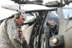 Odierno tours AH-64 Apache helicopter