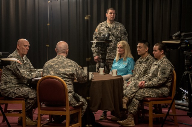U.S. Army Chief of Staff Gen. Ray Odierno holds a roundtable discussion with Soldiers and Civilian personnel from the Eighth Army in the South Post Chapel, USAG Yongsan, South Korea on February 25, 2014.