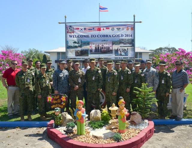 Japanese military expand humanitarian aid training mission at Cobra Gold 2014