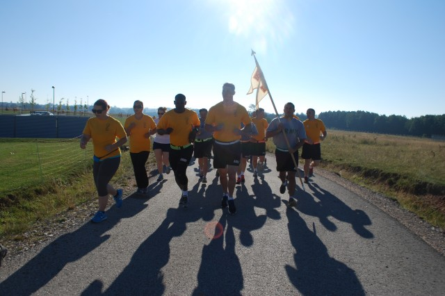 Soldiers, Family members and civilians run to raise awareness of suicide prevention at Urlas Housing at U.S. Army Garrison Ansbach Sept. 6, 2013, in this U.S. Army file photo. There are three types of resources available to prevent, intervene and assist people with suicidal behaviors in the Franconia Military Community.
