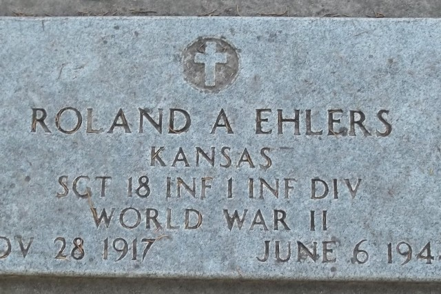 Roland Ehlers' final resting place is at Sunset Cemetery in Manhattan, Kan. He died on Omaha Beach on D-Day. Roland was three and a half years older than his youngest brother Walter.