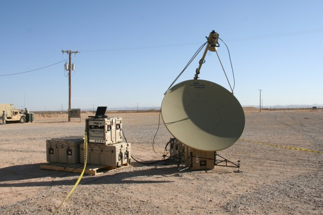 The Tropo Lite, a transit case-based tropospheric (tropo) scatter communications system, is being assessed at Network Integration Evaluation 14.2 in May 2014 to replace the Army's current truck and trailer-based system. Tropo systems shoot microwaves instead of satellite radio frequencies, allowing for secure, high-speed transfer of large volumes of data between sites and over terrestrial obstructions such as mountains.