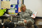 Lt. Gen. Patricia McQuistion, AMC's deputy commanding general supports Read across America