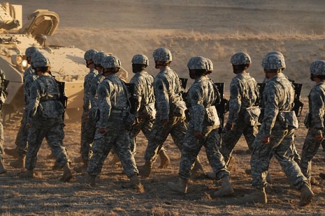 At what point in the does the Army become a hollow and ineffective fighting force if the drawdown and defunding continue?