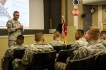 Newcomers briefing welcomes soldiers to Bayonet Division