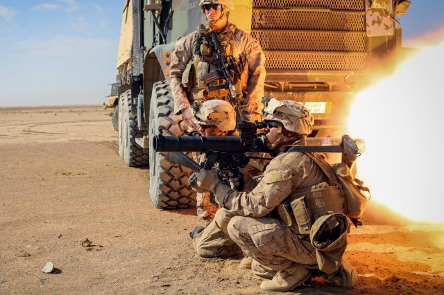U.S. Marines with Bravo and Charlie Company, 1st Battalion, 9th Marine Regiment, conduct rocket range outside of Camp Leatherneck, Helmand province, Afghanistan, Jan. 31, 2014. The Department of Defense has removed 20 areas from its list of locations that qualifying for imminent danger pay starting June 1, in a move that is expected to affect approximately 50,000 service members.