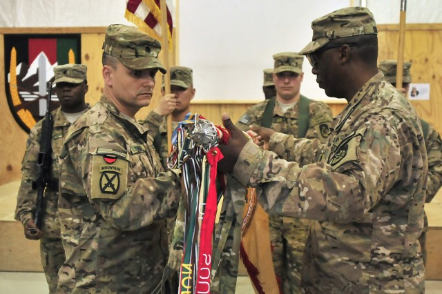 548th CSSB Accepts Authority In Afghanistan