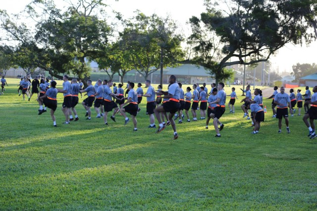 Approximately 50 Soldiers, with the 8th Theater Sustainment Command and throughout the United States Army Pacific Command, trained and studied to become Master Fitness Trainer qualified, Feb. 10 through March 7, at Schofield Barracks, Hawaii.