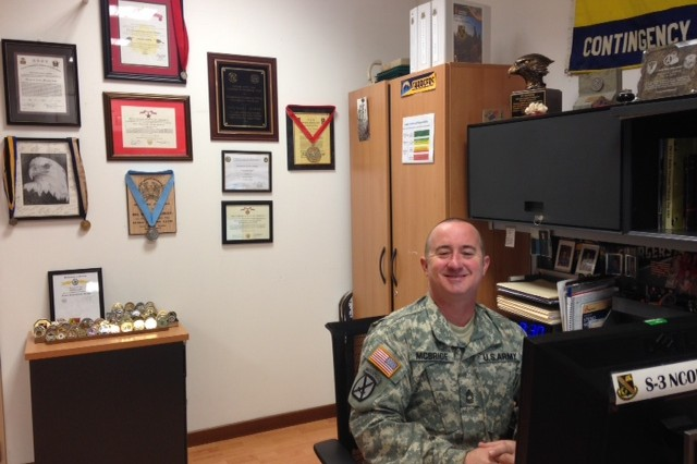 Master Sgt. Scott J. McBride is a member of the Sergeant Audie Murphy and Sergeant Morales Clubs.